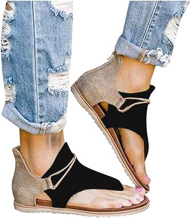 Sunnymal Women Comfy Platform Sandal Shoes Summer Beach Travel Shoes