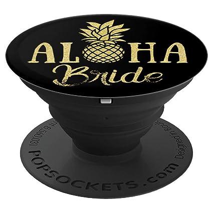 Image Unavailable  sc 1 st  Amazon.com & Amazon.com: Aloha Bride Hawaii Wedding Funny Black Pineapple Gold ...