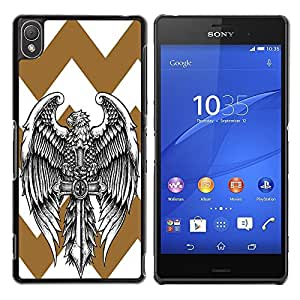 Dragon Case - FOR Sony Xperia Z3 - Mighty wings - Caja protectora de pl??stico duro de la cubierta Dise?¡Ào Slim Fit