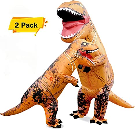 About Beauty 2Pcs Disfraces De Halloween Dinosaurio Traje Inflable ...