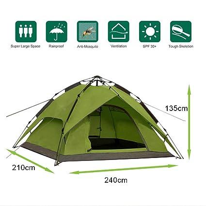Defacto/®Wurfzelt Sekundenzelt 2-3 Person Outdoor Camping Tent Pop Up Campingzelt WASSERDICHT Outdoor Zelte 240x210x135cm BLAU