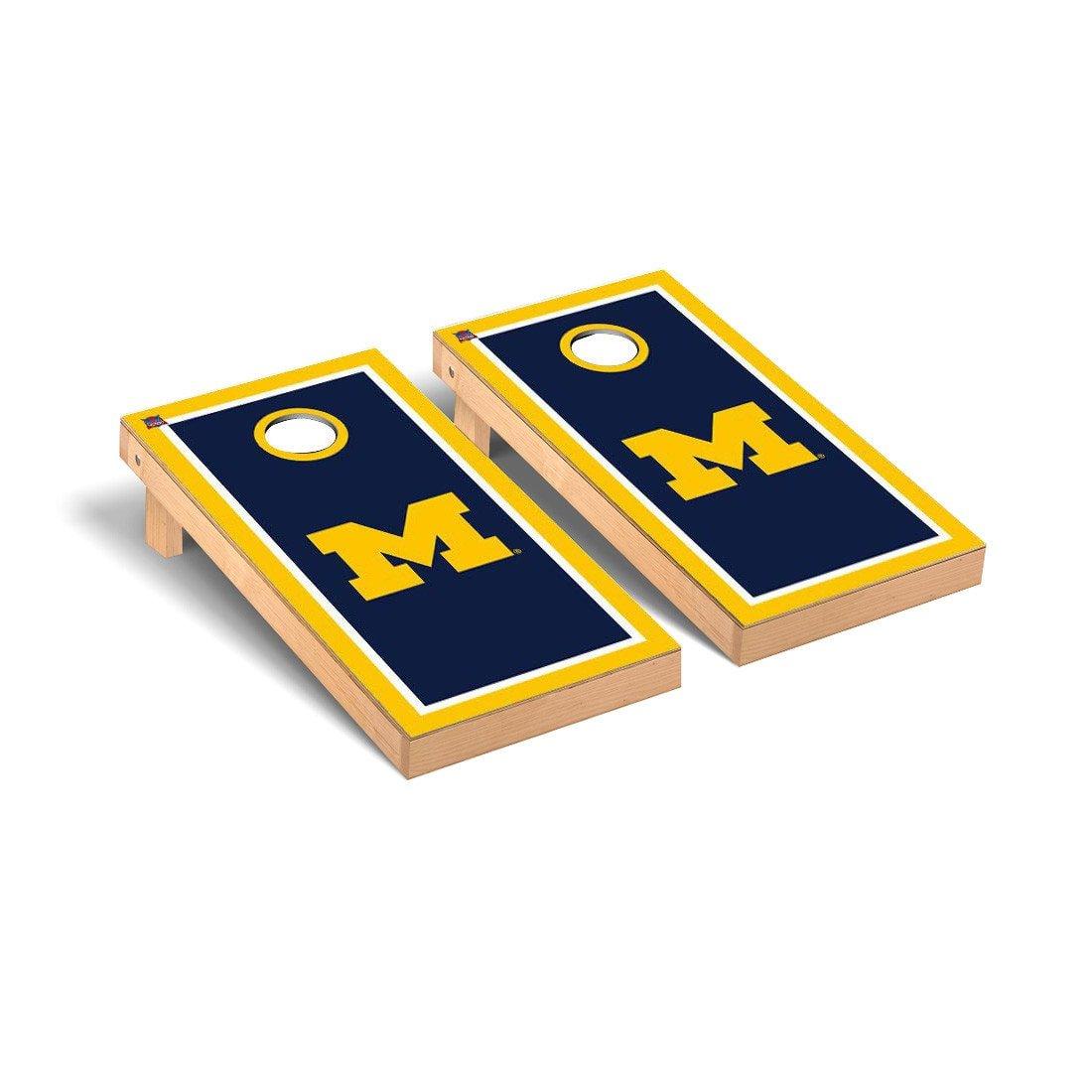 【2018年製 新品】 Michigan Wolverines Michigan Cornhole Wolverines Game Set Set Borderバージョン1 B012803TS4, ハンドメイドのお店preser:a3bc78c1 --- arianechie.dominiotemporario.com