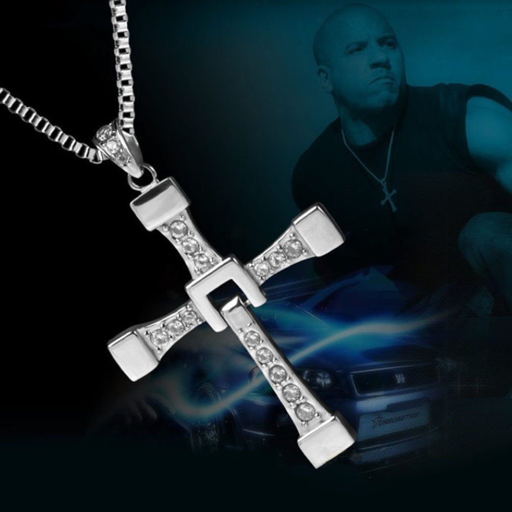 Amazon.com : Mens Silver Necklace Vin Diesel Fast and Furious ...