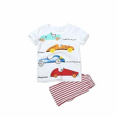 daqinghjxg Boys Suits New Cartoon Clothes T-Shirts Shorts Children Clothing Set
