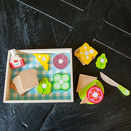 Fat Sandwich - Fat Brain Toys What's for Lunch? Sandwich Set