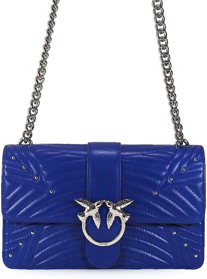 PINKO Damen Accessoires Love Bag Tasche Aus Steppe Blau