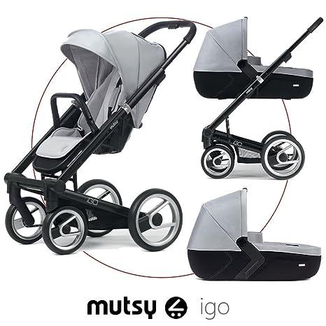 Mutsy Trio Travel System IGo Grey: Amazon.es: Bebé