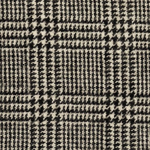 Black/Off-White Glen Plaid Wool Coating (Plaid Glen Fabric)