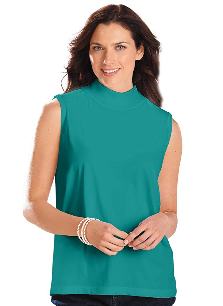 5bbcfc324f4 Top1  AmeriMark Women s Adult Sleeveless Mock Neck Top Blouses. Wholesale  ...
