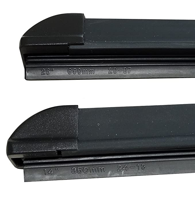 AERZETIX: Juego de 2 escobillas limpiaparabrisas delantero. Tipo: planos rasquetas. Montaje U-gancho (65cm-35cm): Amazon.es: Coche y moto