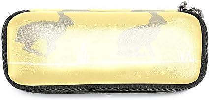 TIZORAX Ribbit Bunny - Estuche para lápices, color amarillo: Amazon.es: Oficina y papelería