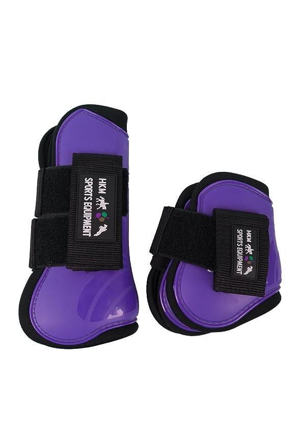 Walmeck 2 PCS Adjustable Horse Leg Boots Equine Hind Leg Guard Equestrian Tendon Protection Neoprene Horse Hock Brace