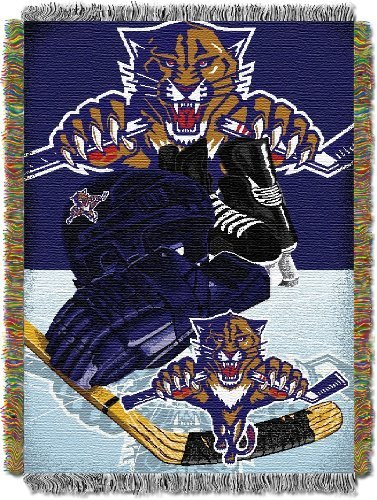 Northwest The Company 051 HIA NHL Florida Panthers Adult Home Ice Advantage Tapestry Woven Throw, 48