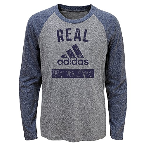 Outerstuff MLS Real Salt Lake Boys -Triblend Equiptment Long sleeve Tee, Heather Grey, Medium (10-12) by Outerstuff