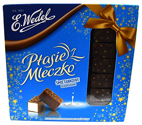 Ptasie Mleczko Creamy Marshmallow Covered 13.4 Ounce by Wedel