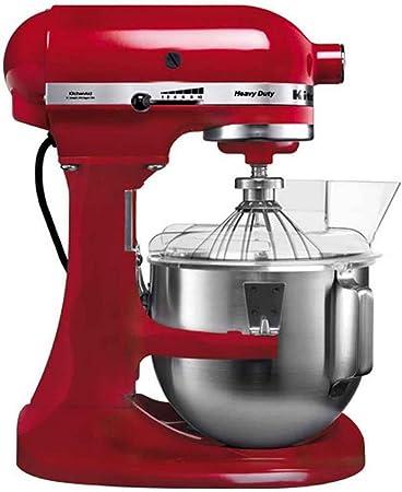 KitchenAid 5KPM5 EER ROBOT DE COCINA DE GRAN CAPACIDAD DE 4,8 L, 315 W, 4.83 litros, 0 Decibelios, Metal, 10 Velocidades, Rojo: Amazon.es: Hogar