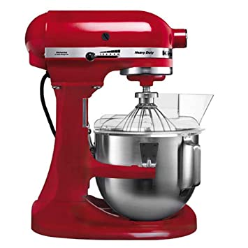 KitchenAid 5KPM5EER - Batidora amasadora, 315 W, 264 x 338 x 411 mm, color rojo