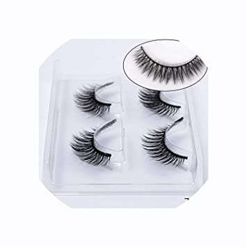 b07d94493c4 Amazon.com : 2/4 pairs natural false eyelashes fake lashes long makeup 3d  mink lashes eyelash extension mink eyelashes for beauty, 760 : Beauty