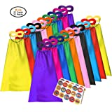 ADJOY Superhero Capes and Masks for Kids - Dress Up Super Hero Costume for Parties - 20sets(40pcs)