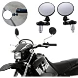 "Cather Store Universal 3"" CNC Black 2 Adjustable Round Motorcycle Scooter ATV dirt bike bar end side mirrors for Honda Kawasaki Suzuki Honda Yamaha Ducati KTM Harley Davidson BMW Victory Indian Aprilia Buell Triumph"