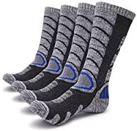 Gosuban 2 Packs Antiskid Wicking Outdoor Multi Performance Hiking Cushion Socks for Men and Women, Assort Colors