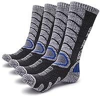 Gosuban 2 Packs Antiskid Wicking Outdoor Multi Performance Hiking Cushion Socks for Men and Women, Assort Colors