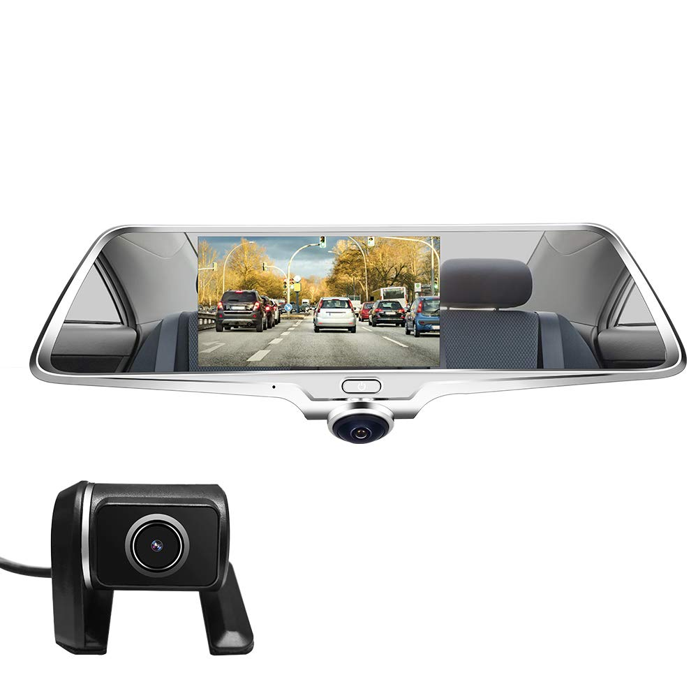 LUU Mirror Dash Cam 360˚ Panorama Camera for Cars, Dual Dashboard Camera Recorder for Taxi Driver