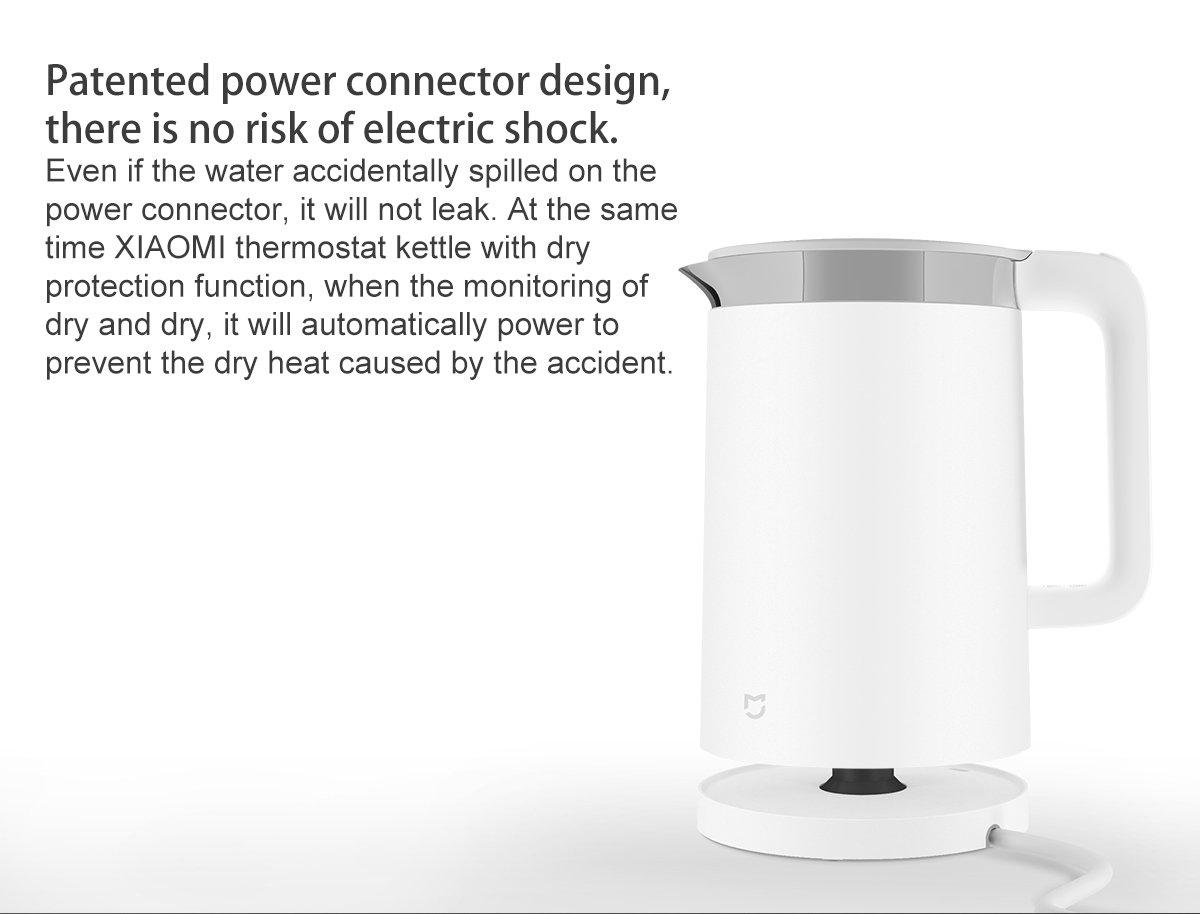 Xiaomi Mijia Hervidor de agua APP Tetera De Agua Eléctrico Termostática 304 revestimiento de acero inoxidable: Amazon.es: Hogar
