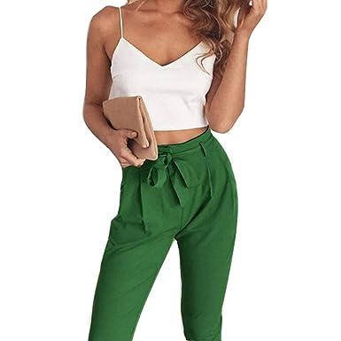heiße Angebote weltweit verkauft amazon Damen Zweiteiler Set Crop Top und High Waist Hose Mode ...