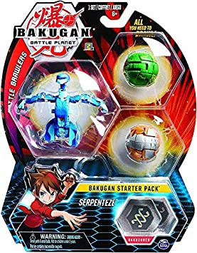 OTTO pour Bakugan Pack de demarrage serpenteze : 3 Boules (Bleu Verte Brune) Battle Planet