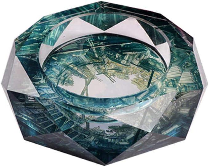 aschenbecher f/ür Aschenbecher Home Fashion Kristall Aschenbecher Kreativer achteckiger Kristall Transparenter Glas Aschenbecher-k9/_120mm #