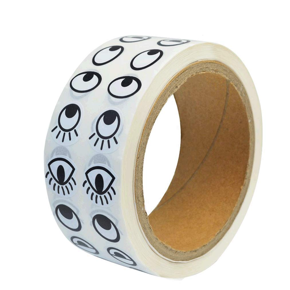 Eye Stickers heliltd 1000 Pairs Stickers Label Rolls Cute Black and White Eye Stickers Labels Novelty Stickers