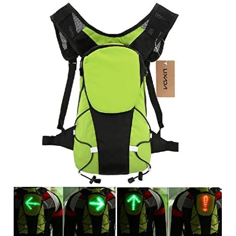 Bicycle Accessories Lixada Bike Bag Usb Reflective Vest Backpack With Led Turn Signal Light Remote Control Sport Safety Bag Gear For Cycling Buy One Give One