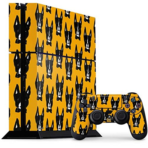 (Patterns PS4 Console and Controller Bundle Skin - Boston Terrier | Skinit Patterns & Textures Skin)