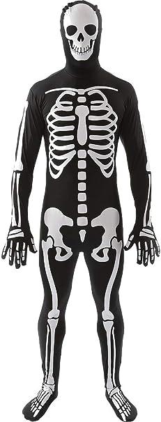 ORION COSTUMES Disfraz Leotardo Estampado de Esqueleto ...