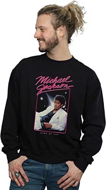 Michael Jackson Hombre King of Pop Photo Camisa De Entrenamiento: Amazon.es: Ropa y accesorios