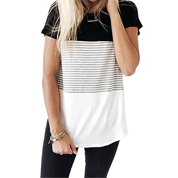 UFACE Donna 34 T Shirt, Top con Spalle Scoperte a Righe da