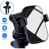 Askai Wireless Car Charger Mount,15W Qi Fast Charging Auto-Clamping Mount,Air Vent Dashboard Phone Holder Compatible with iPhone 11|11 Pro|Max|Xs|Xs Max|X|XR, Samsung S20|S20+|S20U|S10|S10+|S9|Note10