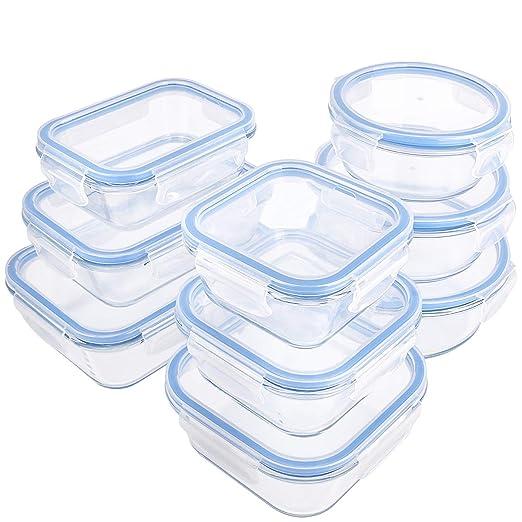 Contenedores de almacenamiento de alimentos de cristal con ...