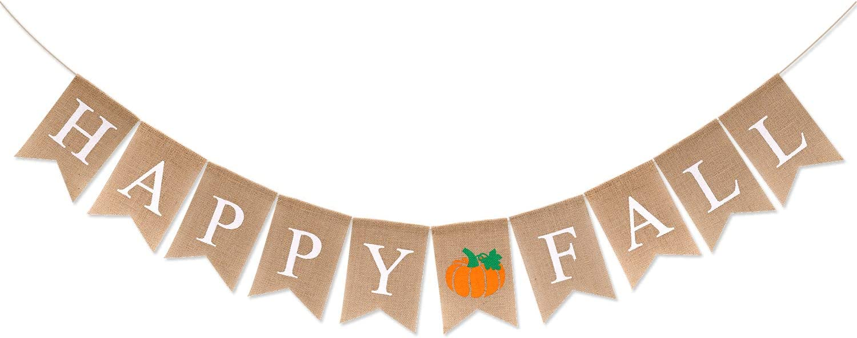 Happy Thanksgiving Burlap Banner
