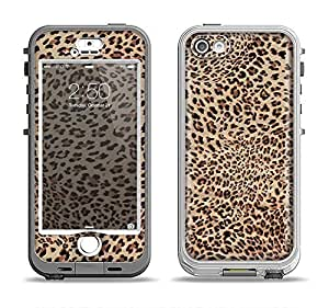 The Brown Vector Leopard Print Apple iPhone 5s LifeProof Nuud Black Case and Skin Set (Black LifeProof Case Included!)