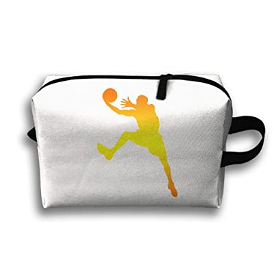 342a76c5074a hot sale With Wristlet Cosmetic Bags Golden Basketball Shoot Brush ...