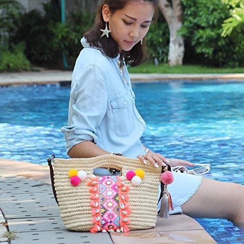 Straw Handbags Bags Style Woven Bag MDRW Rattan Female Folk Bags Fashion Ball Shoulder Bohemia For Bag Hair Handbag New Ladies wTBqI