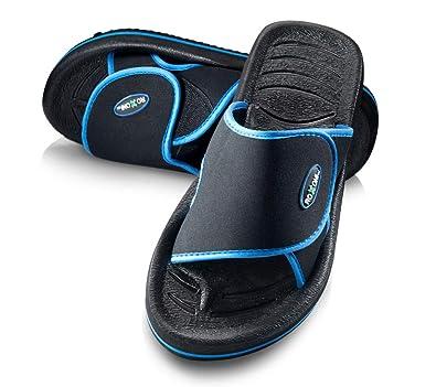 314a14f820b Hendricks Men's Comfortable Non Slip Flip Flop Shower Shoe Adjustable Beach  Slide Sandal Slipper