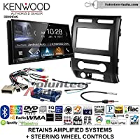 Volunteer Audio Kenwood DDX9904S Double Din Radio Install Kit with Apple CarPlay Android Auto Bluetooth Fits 2009-2010 Ford F-150 (Black) (Retains steering wheel controls)