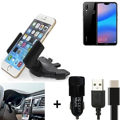 K-S-Trade® for Huawei P20 Lite CD slot Smartphone Holder car