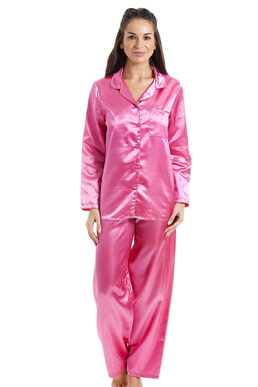 Camille Pyjama aus Satin - Lange Ärmel & Hose - Satin - Pink