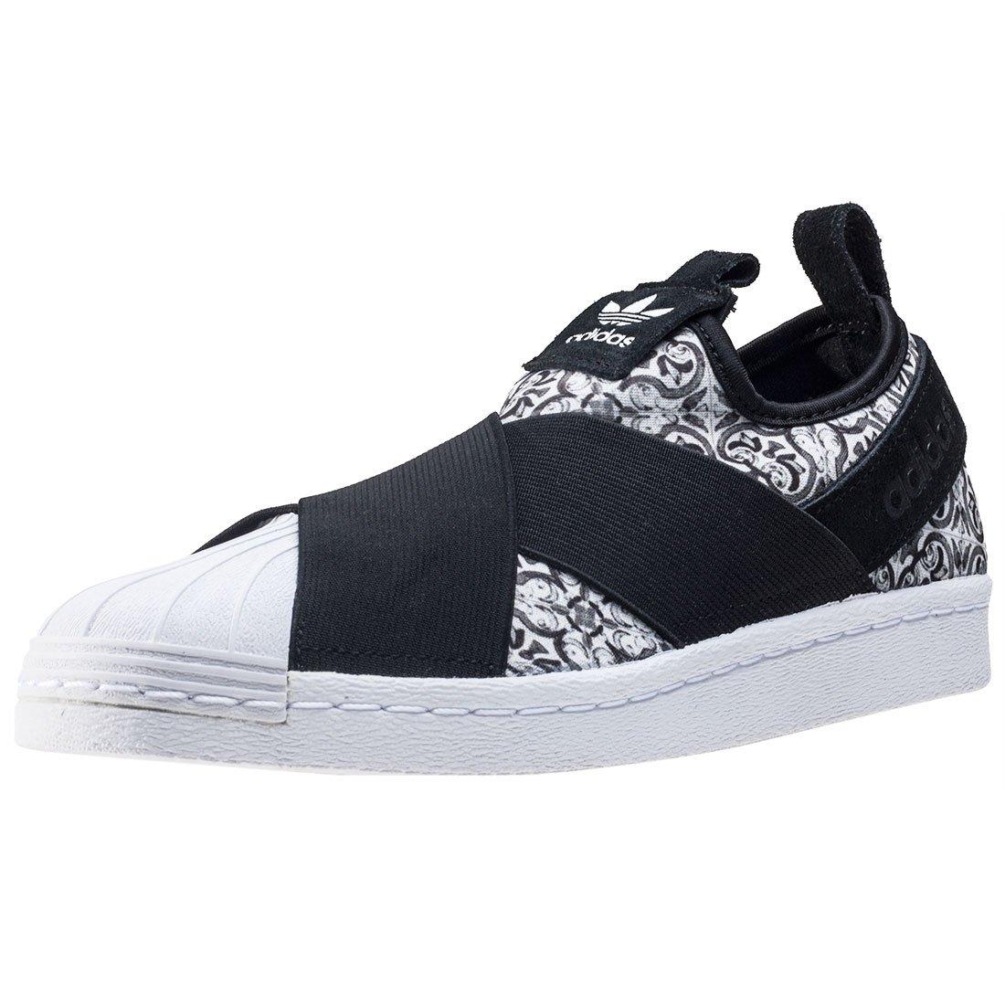 Adidas Superstar Slipon W, Zapatillas de Deporte Para Mujer 38 EU|Negro (Negbas/Negbas/Ftwbla)
