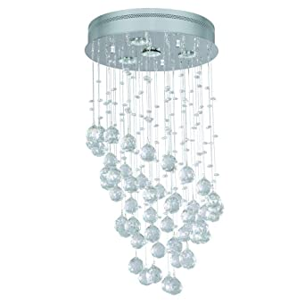 Home Decorators Collection 4 Light Chrome Ceiling Chandelier