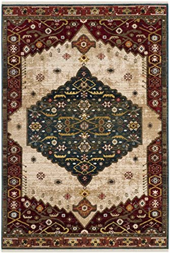 Safavieh Kashan Collection KSN300A Traditional Oriental Non-Shedding Stain Resistant Living Room Bedroom Area Rug